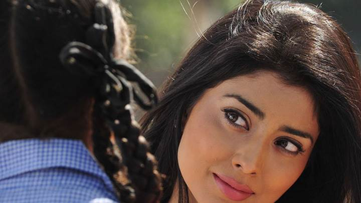 Shriya Saran Looking Girl Sweet Pose In Nuvva Nena